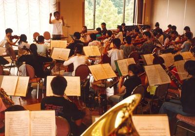 2003年8月、夏合宿での練習