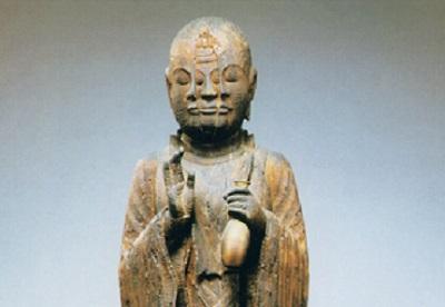 宝誌和尚像 木造、平安時代、西住寺 [京都]
