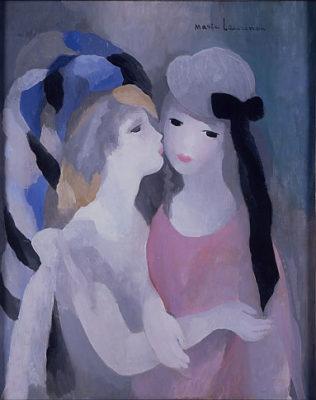 マリー・ローランサン 《接吻》1927年頃油彩・キャンバス
