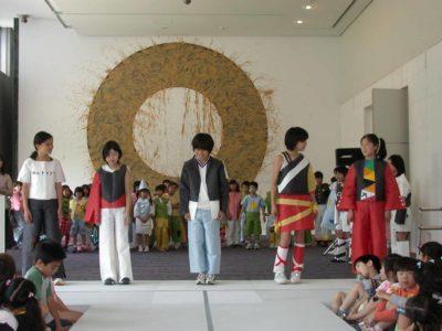 京都展で行われた小学生による ファッションショー
